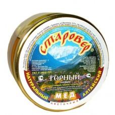 Мёд ГОРНЫЙ в стеклянной банке 300 г