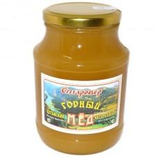 Мёд ГОРНЫЙ в стеклянной банке 750 г
