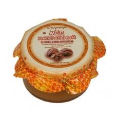 Мёд с грецким орехом в стеклянной банке 250 г