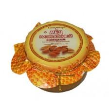 Мёд со сладким миндалём в стеклянной банке 250 г