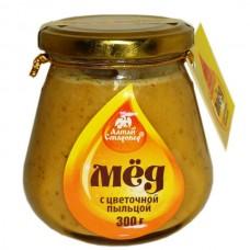Мёд с пыльцой в стеклянной банке 300 г