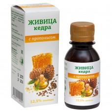 Живица кедровая 12,5% на кедровом масле с экстрактом прополиса, 100мл