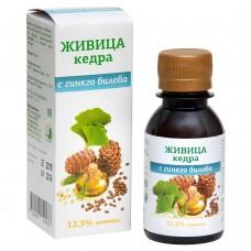 Живица кедровая 12,5% на кедровом масле с экстрактом гинкго билоба, 100мл